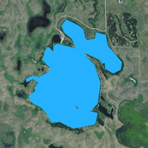 Fly fishing map for Summit Lake, South Dakota