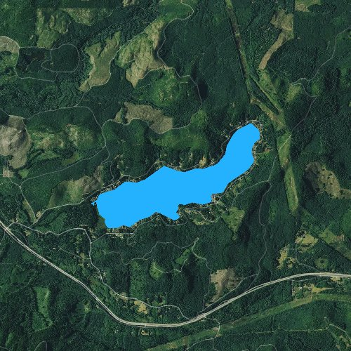 Fly fishing map for Summit Lake, Washington