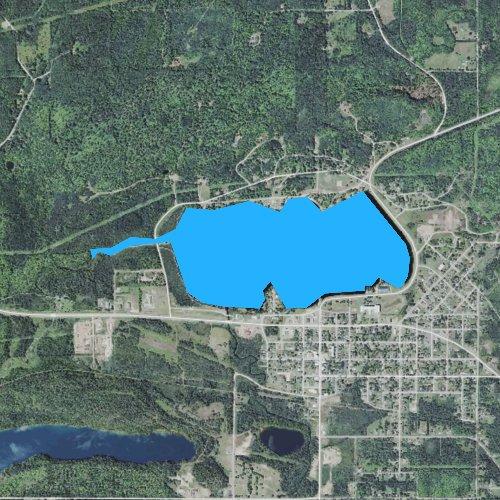Fly fishing map for Sunday Lake, Michigan