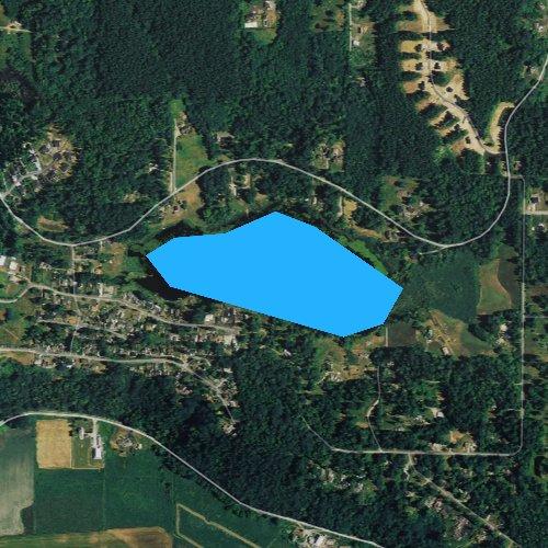 Fly fishing map for Sunday Lake, Washington