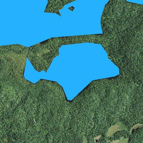 Fly fishing map for Sunfish Lake, Minnesota