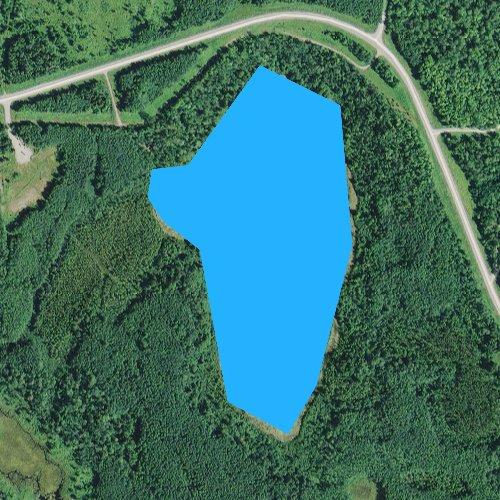 Fly fishing map for Sunrise Lake, Minnesota