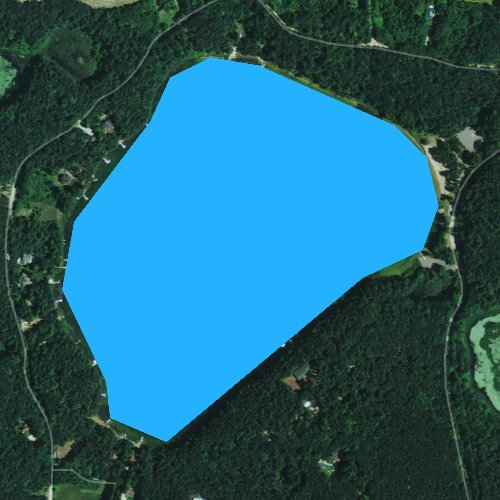 Fly fishing map for Sunset Lake, Wisconsin