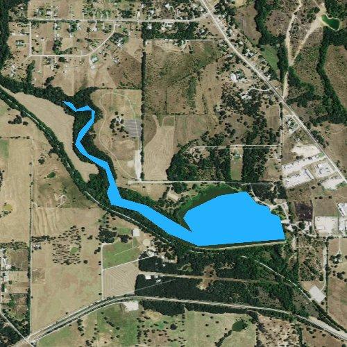 Fly fishing map for Sunshine Lake, Texas