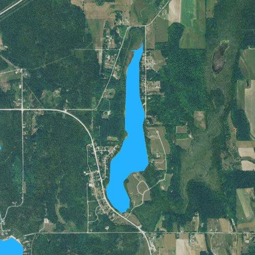 Fly fishing map for Susan Lake, Michigan