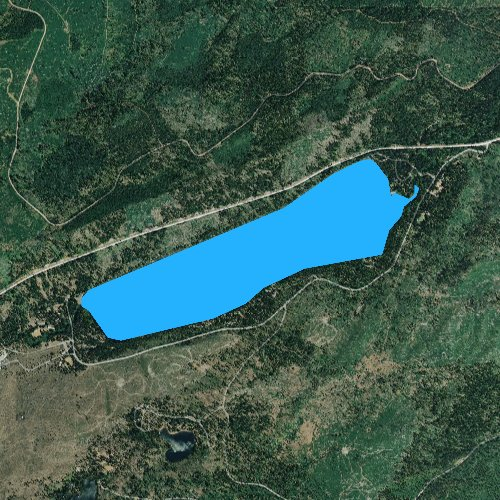 Fly fishing map for Suttle Lake, Oregon