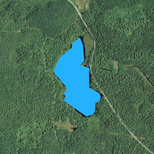 Fly fishing map for Swamper Lake, Minnesota