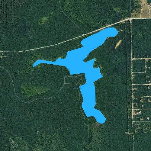 Fly fishing map for Swan Creek Pond, Michigan