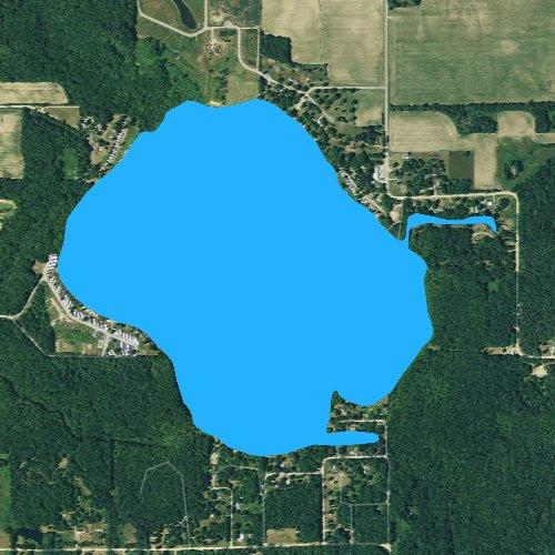 Fly fishing map for Swan Lake: Allegan, Michigan