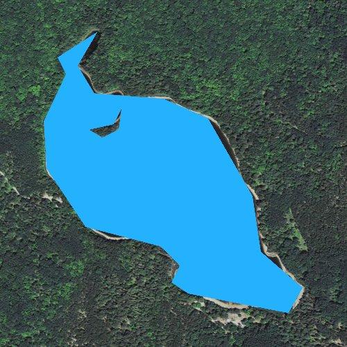 Fly fishing map for Swan Lake, Michigan