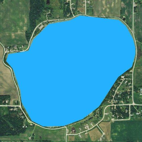 Fly fishing map for Swan Lake, Minnesota