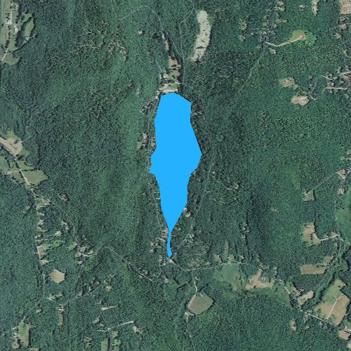 Fly fishing map for Swanzey Lake, New Hampshire
