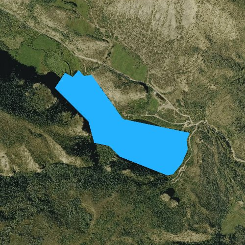 Fly fishing map for Sweetwater Lake, Colorado