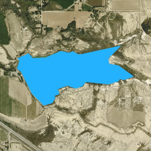 Fly fishing map for Sweitzer Lake, Colorado