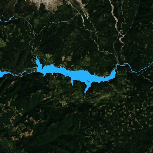 Fly fishing map for Swift Reservoir, Washington