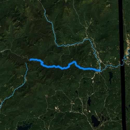 Fly fishing map for Swift River, New Hampshire