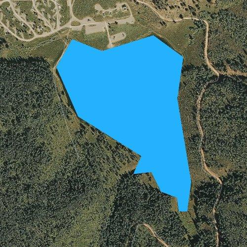 Fly fishing map for Sylvan Lake, Colorado