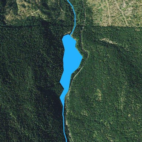 Fly fishing map for Sylvan Lake, Montana
