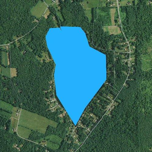 Fly fishing map for Sylvan Lake, Pennsylvania