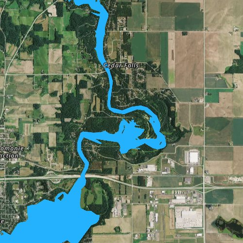 Fly fishing map for Tainter Lake 1667, Wisconsin