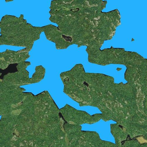 Fly fishing map for Takucmich Lake, Minnesota