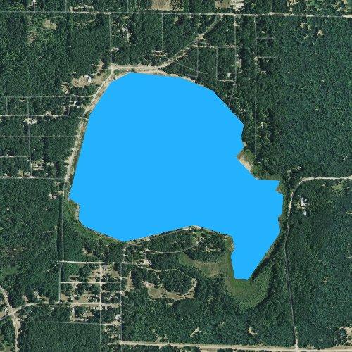 Fly fishing map for Tallman Lake, Michigan