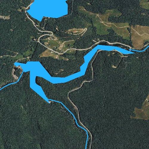 Fly fishing map for Tanasee Creek Lake, North Carolina