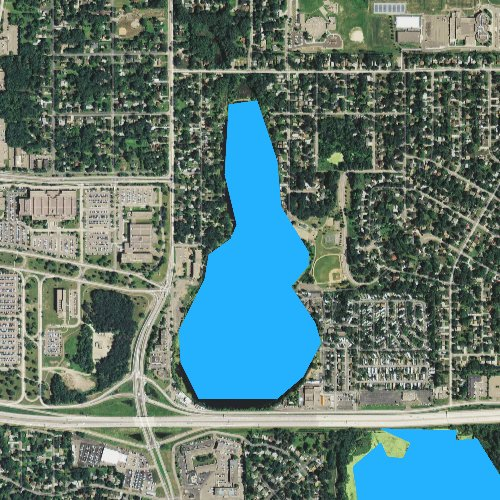 Fly fishing map for Tanners Lake, Minnesota