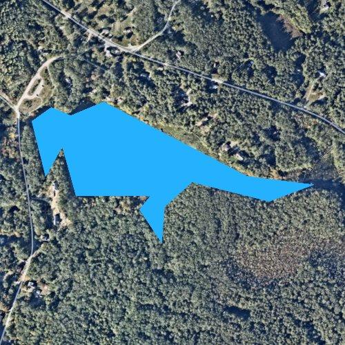 Fly fishing map for Tarkiln Pond, Rhode Island