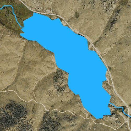 Fly fishing map for Tarryall Reservoir, Colorado