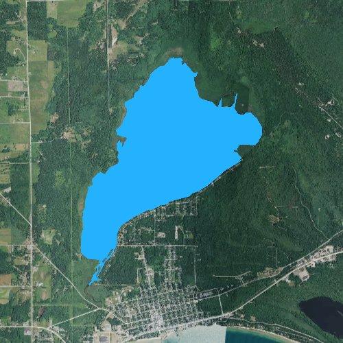 Fly fishing map for Tawas Lake, Michigan