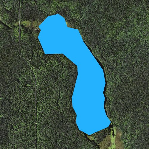 Fly fishing map for Taylor Lake, Michigan