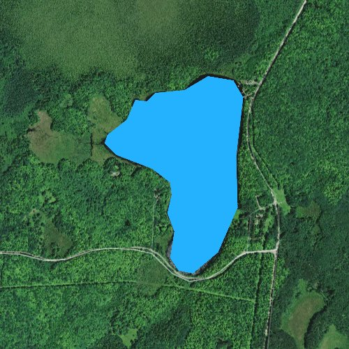 Fly fishing map for Taylor Lake, Wisconsin