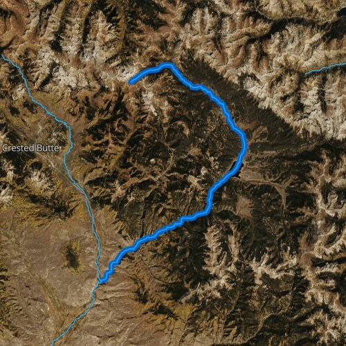 Fly fishing map for Taylor River, Colorado