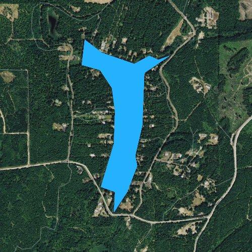 Fly fishing map for Tee Lake, Washington