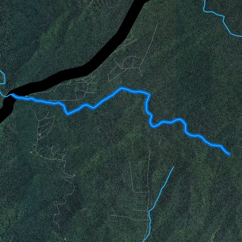 Fly fishing map for Tellico River, North Carolina