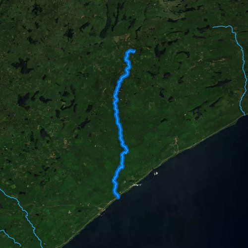 Fly fishing map for Temperance River, Minnesota