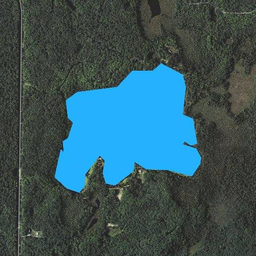 Fly fishing map for Tepee Lake, Michigan