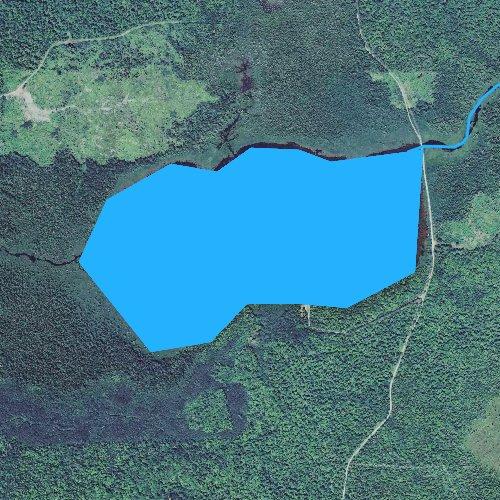 Fly fishing map for Thayer Lake, Michigan