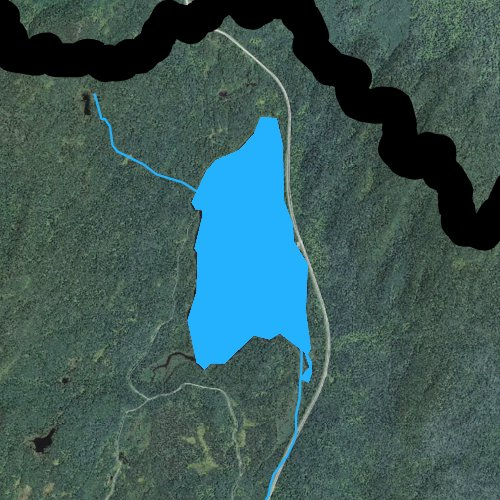 Fly fishing map for Third Connecticut Lake, New Hampshire