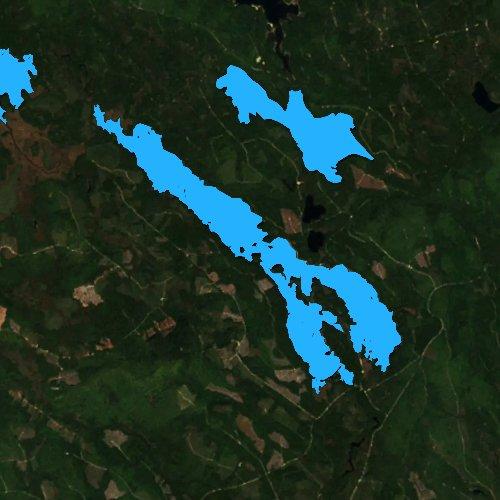 Fly fishing map for Third Machias Lake, Maine