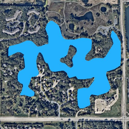 Fly fishing map for Thomas Lake: Dakota, Minnesota