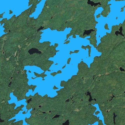 Fly fishing map for Thomas Lake, Minnesota