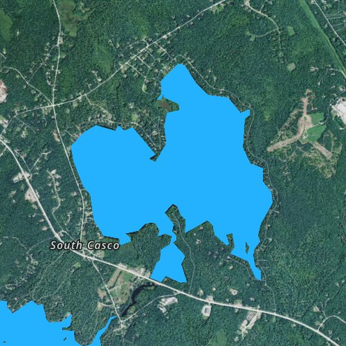 Fly fishing map for Thomas Pond, Maine