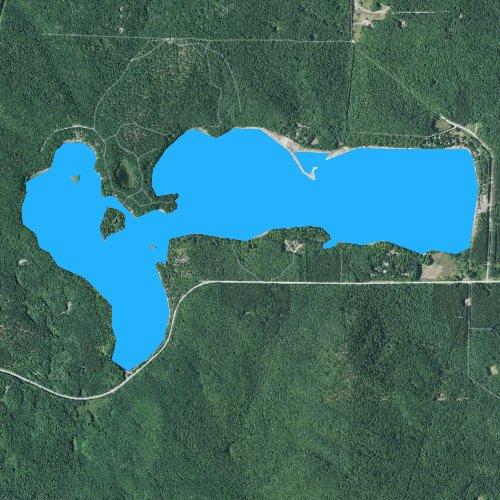 Fly fishing map for Thumb Lake, Michigan
