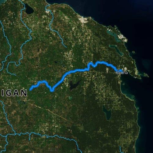 Thunder Bay Michigan Map.Thunder Bay River Michigan Fishing Report