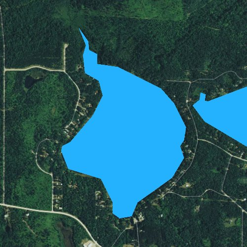 Fly fishing map for Thunder Lake, Wisconsin