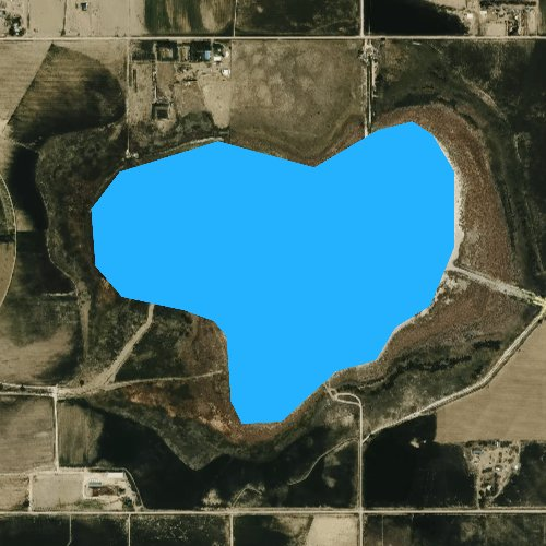 Fly fishing map for Thurston Reservoir, Colorado