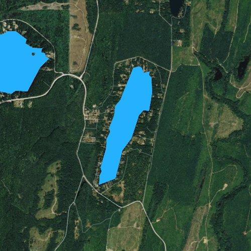 Fly fishing map for Tiger Lake, Washington
