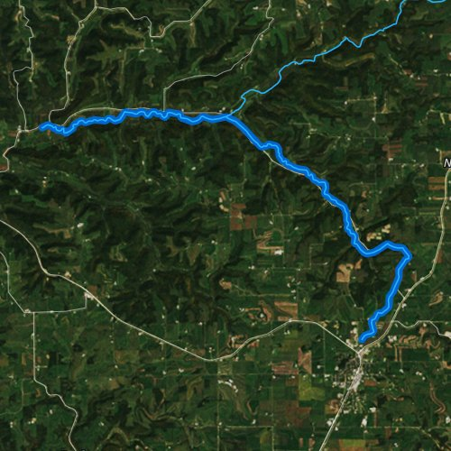 Fly fishing map for Timber Coulee Creek, Wisconsin